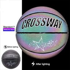 Size 7 Holographic Basketball Glowing Reflective Lighted Basketball Night Game