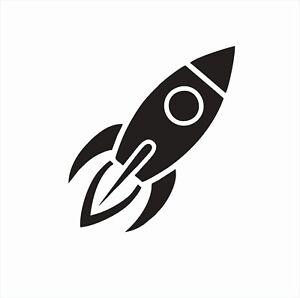 Rocket Ship Space Vinyl Die Cut Car Decal Sticker-FREE SHIPPING