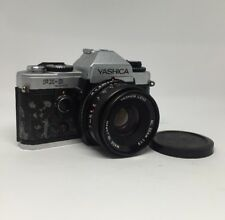 YASHICA FX-D QUARTZ 35mm FILM SLR CAMERA WITH YASHICA 50mm F/1.9 ML Lens 12