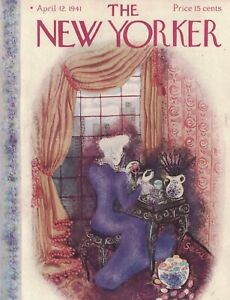 1941 New Yorker April 12 - Upper East Side Easter Egg Painting - Servil