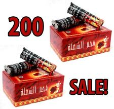 New Charcoal Sale! 200 Tablets Hookah Nargila Coals for Shisha bowl Smoking