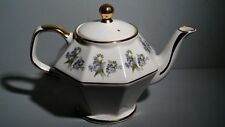 Vintage Staffordshire TEAPOT England Pottery GIBSON Hand Painted EUROPA