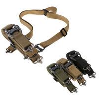 "Retro Tactical Adjust Quick Detach QD 1 2Point Multi Mission 1.2"" Rifle Sling US"