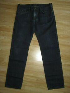 Mens HUGO BOSS Maine 1 Blue Denim Jeans Pants Size 36/34 Regular Fit VGC!