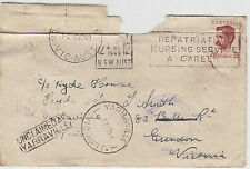 Stamp Australia 2&1/2d Lawson on cover 1949 Sydney-Essendon dead letter office