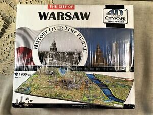 4D Cityscape History Over Time Puzzle - Warsaw