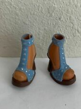 My Scene Barbie Doll Blue & Brown High Heel Shoes Accessory