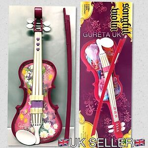 Electronic Violin Children Music Toy With Music Songful Flashing Repetition Toy