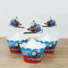 24Pcs THOMAS THE TANK ENGINE TRAIN CUPCAKE CAKE TOPPERS Party Decoration