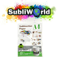 100 Sheets A4 Dye Sublimation Paper Iron On Heat Transfer For Inkjet T Shirt Mug