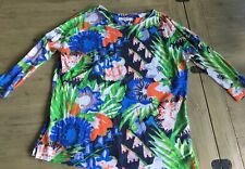 Fab Spring Linen Fine Weave Brightly Coloured Loose Top Lk Bennett M