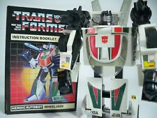 K1702411 WHEELJACK W INSTRUCTIONS G1 TRANSFORMERS ORIGINAL 100% COMPLETE VINTAGE