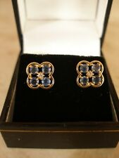 Pair of 9 Carat Gold & Diamond Earrings