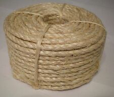 """1/4"""" X 100' Natural Sisal Rope CAT SCRATCHING POST Claw Control Toy Crafts Pet"""