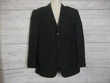 Fellini Uomo Men's Jacket Blazer Sport Coat Black Three Button Size 42S