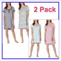 NEW Jane and Bleecker Ladies' Henley Sleepshirt, 2 PACK - VARIETY