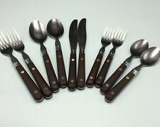 New listing 2 Washington Forge Wf Mardi Gras Stainless Brown Handle Knife Fork Spoon Choice
