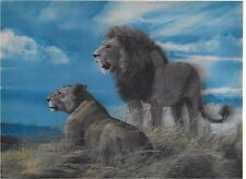 lion animal painting 3D Lenticular Holographic Stereoscopic Picture Wall Art