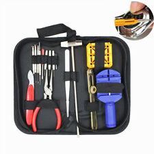 16Pc Watch Repair Tool Kit Removes Battery Bands Links Screwdrivers Case Opener