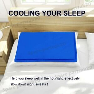 Cold Gel Pad Pillow Natural Chilled Comfort Sleeping Body Aid Cooling Bed Mat