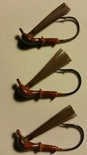 Arkie Jig 1/8 oz 2/0 hook color brown/green glitter flakes