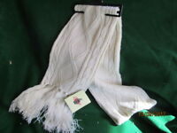 FAILSWORTH LADIES KNITTED SCARF WITH TASSELS  IN IVORY ACRYLIC NEW WITH LABELS