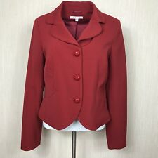 Womens L.K.Bennett Dark Red Waist Elegant Wool Blend Jacket Size 14 UK *VGC*