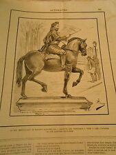 Caricature 1891 - Le Roi Vert Galant lisant La Gazette des Tribunaux