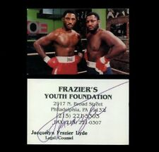 ca. 1990s JOE FRAZIER Signed Business Card Boxing