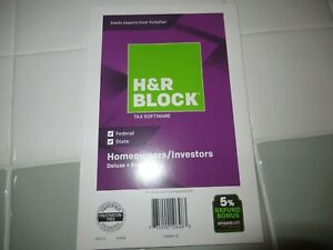 H&R BLOCK Deluxe + State Tax Software Homeowners Investors 2018 SEALED