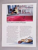 Rolex Oyster Perpetual Lady Datejust Watch PRINT AD - 1990 ~ Helen Frankenthaler