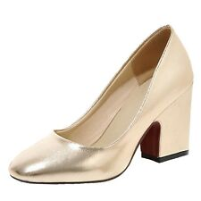PUMPS Party Womens Disco Ladies Court Shoes UK Sz 1 2 3 4 5 6 7 8 Gold UK 7.5 ( Size Tag CN 42)
