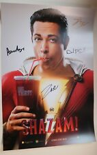 SDCC Comic Con 2018 DC Shazam Exclusive Poster Zachary Levi Cast SIGNED LOT A