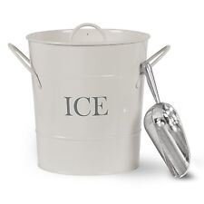 Traditional Ice Bucket with Scoop & Handle Metal Drinking Retro Bar Centrepiece