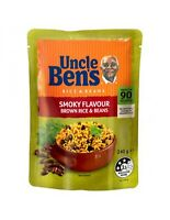 Uncle Bens Smoky Flavour Brown Rice & Beans 240gm x 6
