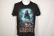 Men's ROCK YEAH Black AVENGED SEVENFOLD Graphic Tshirt Sz M