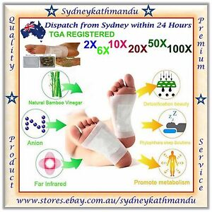 Real Foot Detox Patch Natural plant Pads Toxin Removal Detoxify Health Care Fit