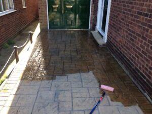 pattern Imprinted concrete driveway sealer (clear) sealant 20litres WET LOOK