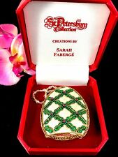 Nib Sarah Faberge St. Petersburg Collection Emerald Silk Precious Stone Ornament