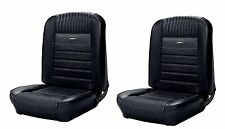 1964 - 1966 Mustang Front Bucket Seat Deluxe PONY Upholstery - Black - In Stock!