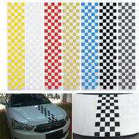 130CM*25CM UNIVERSAL PVC COFANO DECOR ADESIVO A STRISCE VINYL DIY PER AUTO  !