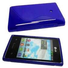 caseroxx TPU-Case voor LG E400 Optimus L3 in blue gemaakt van TPU