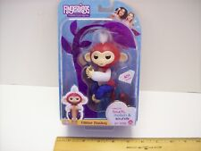 WowWee Fingerlings Glitter Monkey Liberty (Red, White, and Blue) Interactive NEW