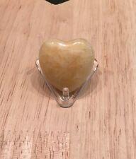 Yellow Calcite Small Heart.