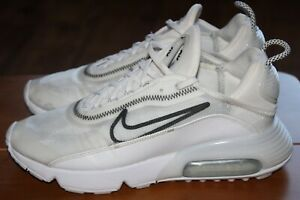 NIKE AIR MAX 2090 SIZE UK 7.5 EUR 42 LADIES WHITE TRAINERS VERY GOOD CONDITION