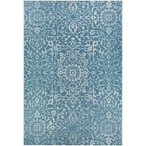 """Couristan Palmette Ocean-Ivory In-Out Rug, 7'6"""" x 10'9"""" - 23293216076109T"""