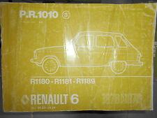 Renault 6 R6 1976 à 1978 : catalogue pièces détachées d'origine PR1010-3