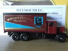 Lledo PV44 Code 3, Scammell Truck, Weymouth Football Club, The Terras, cert 37
