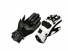 Mbsmoto Motorcycle Motorbike Scooter Sports Leather Panther Summer Short Gloves White X-large