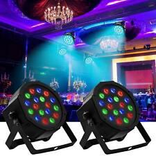 2PCS RGB 18LED 54W Par Stage Projector Lighting Wedding DJ Party Disco Lights